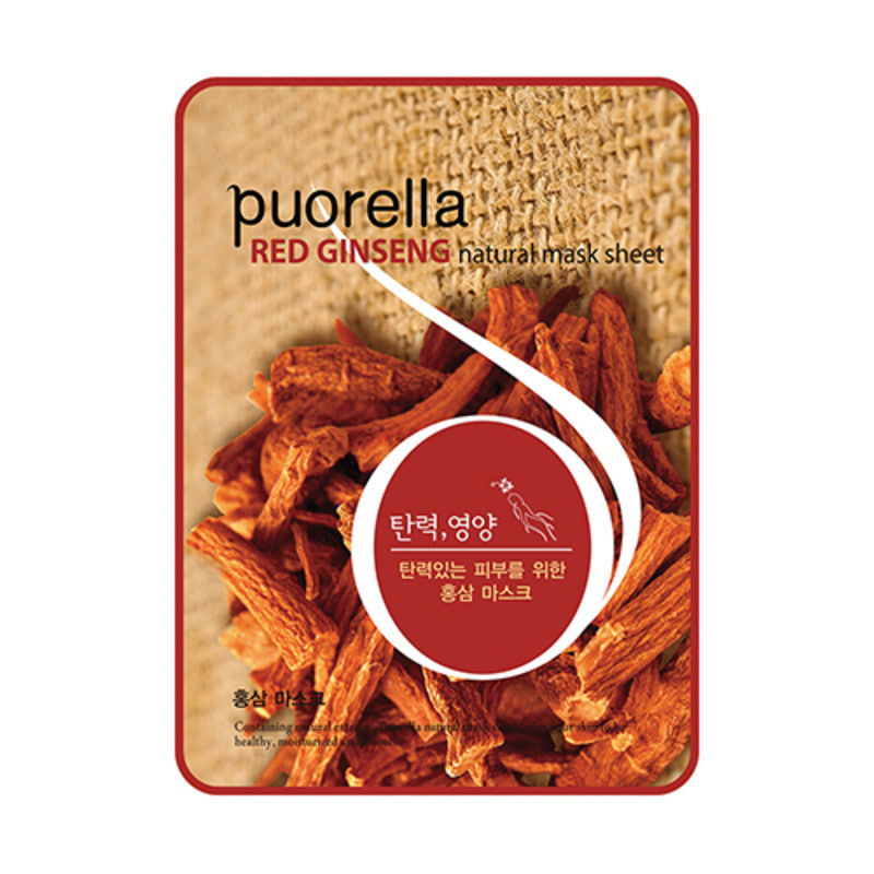 PUORELLA Natural Mask Sheet Red Ginseng