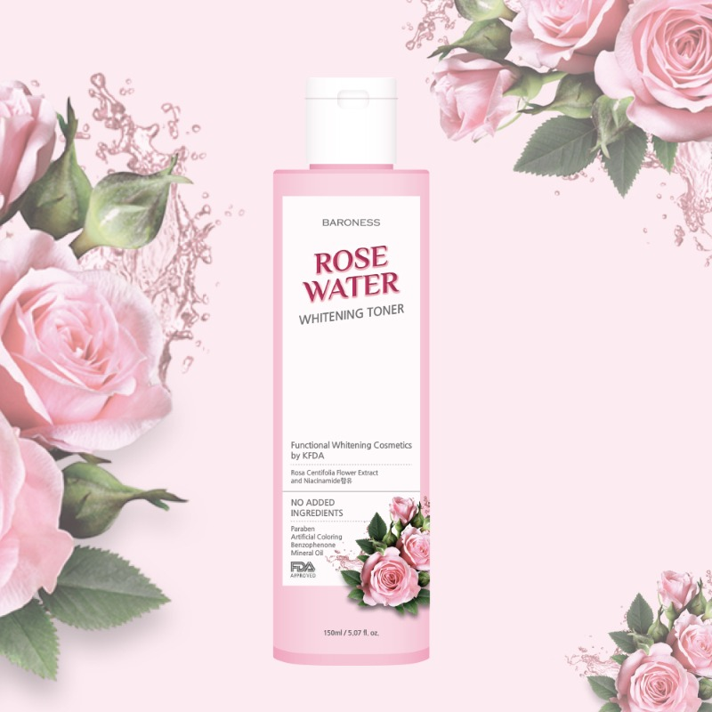 Baroness Rose Water Whitening Toner 150ml