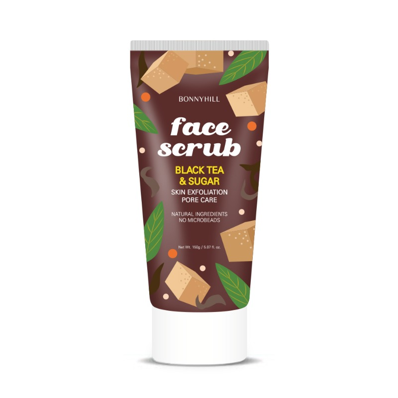 Bonnyhill BLACK TEA & SUGAR FACE SCRUB 150g